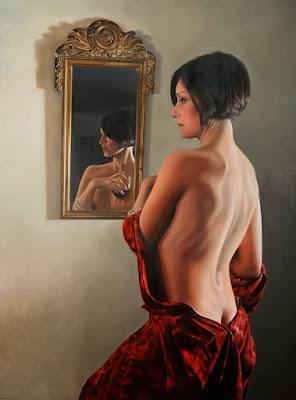 Retratos Pintados de Mujeres De Espalda