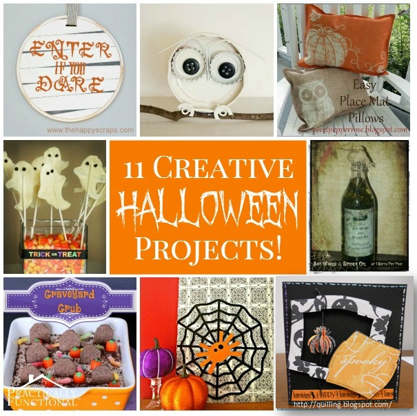 Spooky Spider Halloween Card Featured at Practically Functional