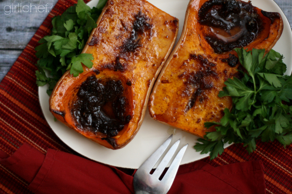 Balsamic-Honey-Fig Roasted Butternut Squash | www.girlichef.com