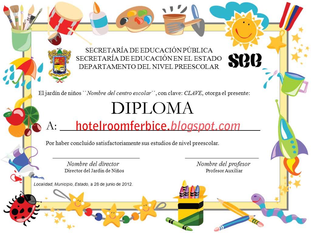 Plantillas De Diplomas Y Certificados Para Imprimir