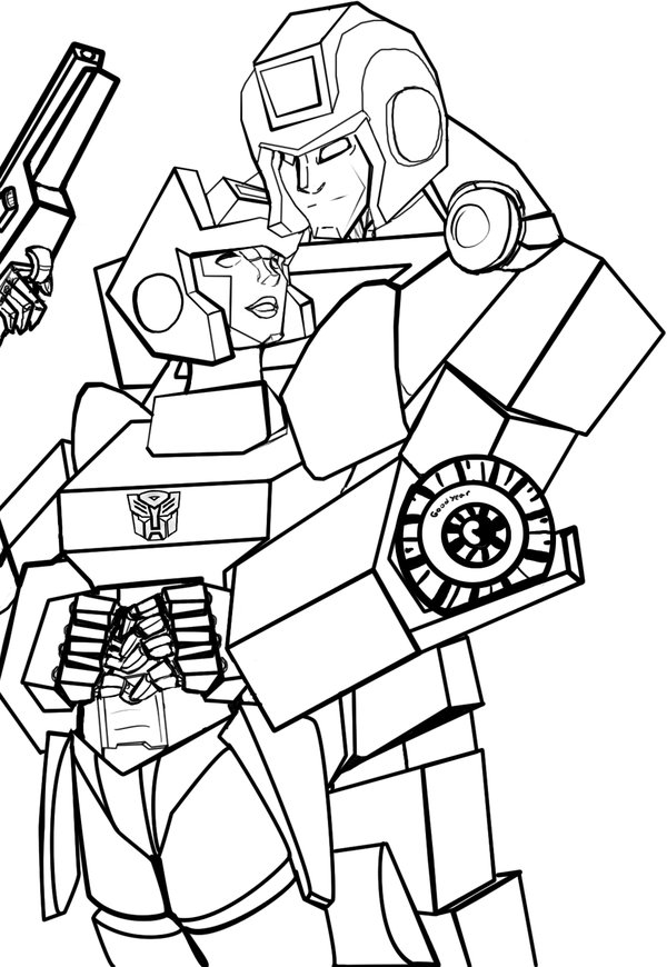 IronHide Transformers Coloring