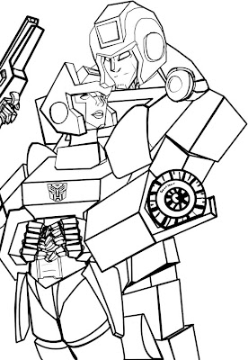 Transformers Ironhide Coloring Pages chromia line