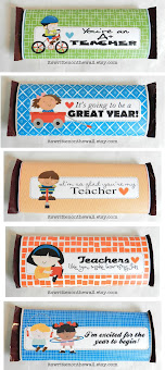 Hershey Candy Bar Wraps for Teacher Appreciation