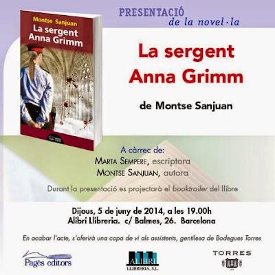 Targetó presentació 'La sergent Anna Grimm'(Montse Sanjuan)