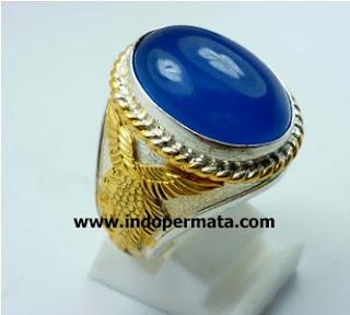 batu permata natural-blue chalcedony-batu mulia-cincin-berkualitas