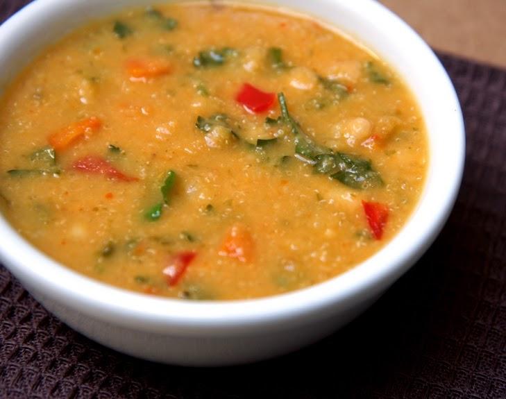 Sopa de Feijão Branco e Amaranto (vegana)