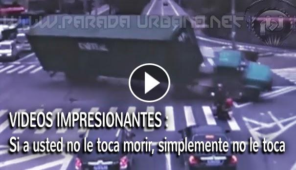 VIDEOS IMPRESIONANTES - Dramáticos, accidentes en que las personas salen  con suerte