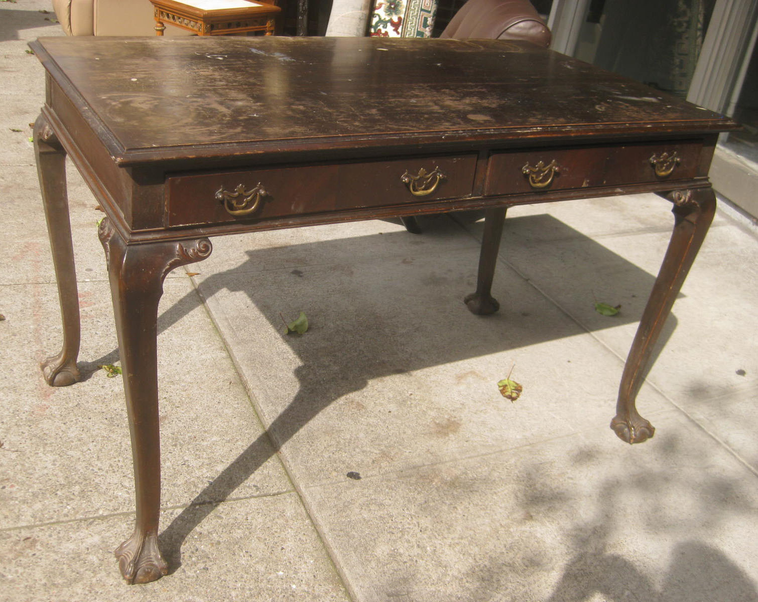 Uhuru furniture collectibles sold claw foot library table 145 sold claw foot library table 145 geotapseo Choice Image