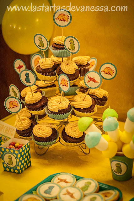 Cupcakes fiesta dinosaurios
