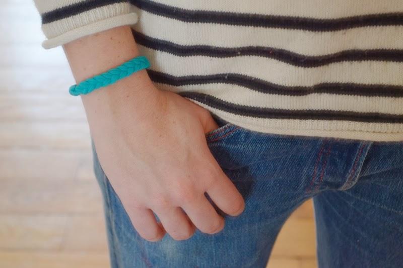 bracelet tressé DIY