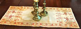 Peacock Manor Sampler and Reproduction Runner - $14.00