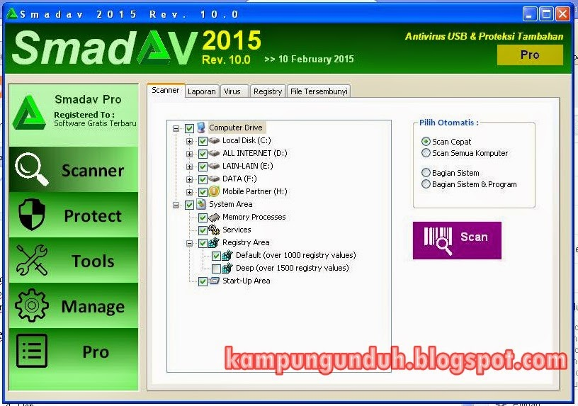 Download Smadav Pro 2015 Rev. 10.0 Key Serial Number Terbaru