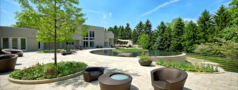 Huge terrace in Michael Jordan's House