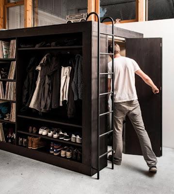 Departamento pequeño y dormitorio con modular