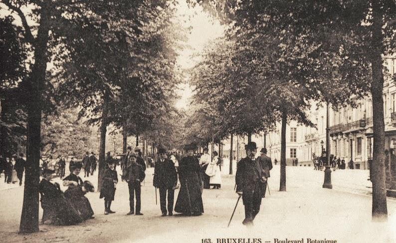 La belgique des quatre vents la belgique d 39 antan for Boulevard du jardin botanique bruxelles