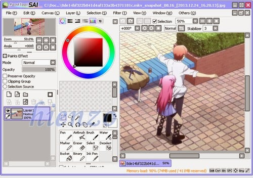 Anime Angle Beats on Paint Tool Sai