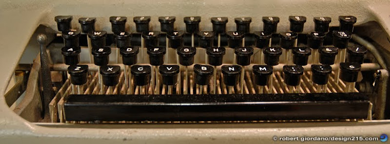 photo of an old typewriter, Copyright 2011 Robert Giordano