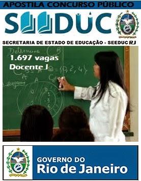 Apostila Seeduc RJ Docentes I para Magistério Estadual - RJ
