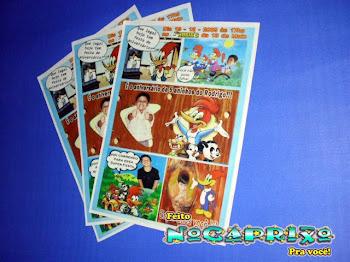 Convite história em quadrinhos tema Pica-Pau