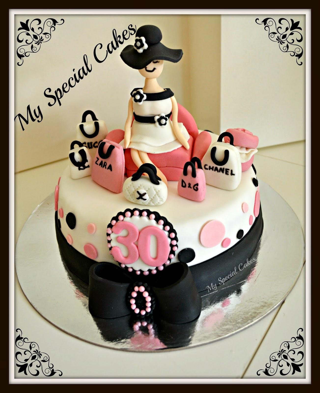 Shopaholic Birthday Cake