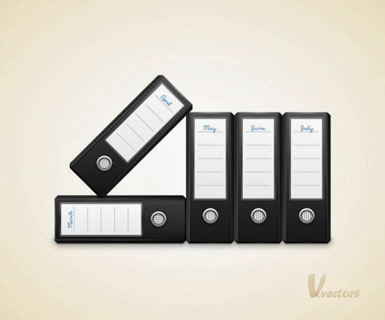 Vector Binders Illustration