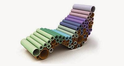 Espreguiçadeira Rugburm (RSA) - upcycling com tubos de carpete