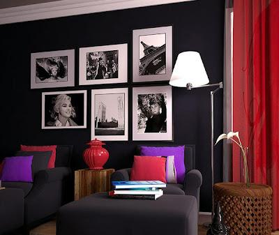 kumpulan contoh dekorasi lukisan dinding untuk ruang tamu