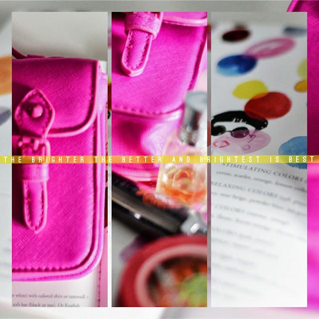 Topshop fluro pink mini satchel