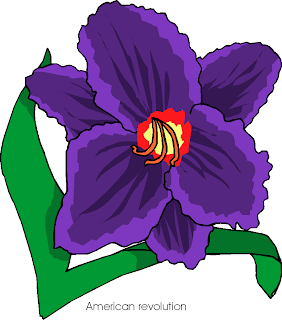 American Revolution Blue Flower Clipart