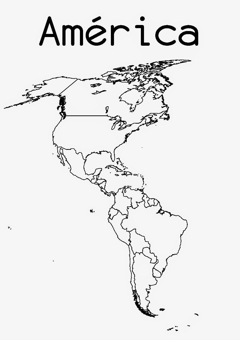 Mapas mudos de los continentes para imprimir for America todo un inmenso jardin eso es america