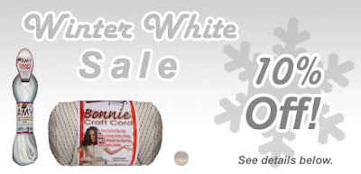 10% off Winter Whites at MacrameSuperStore.com
