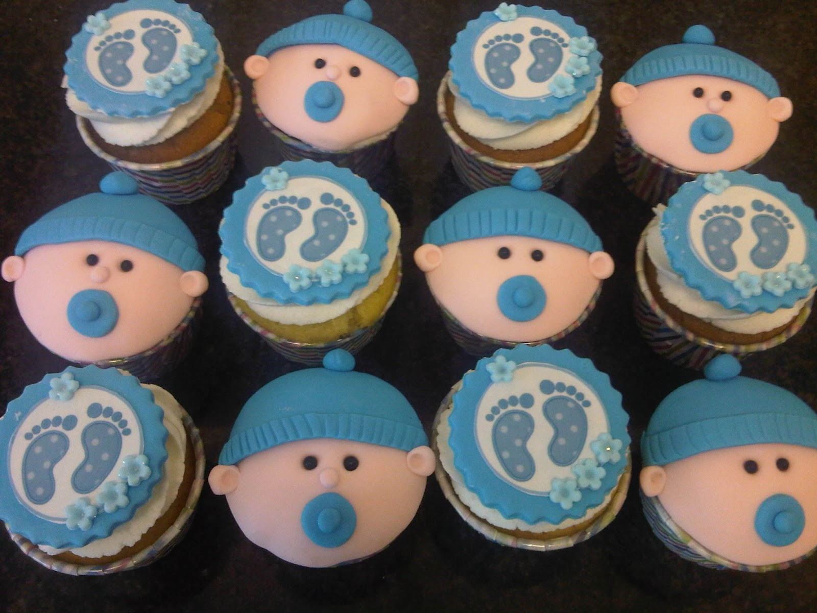 Baby Shower Cupcakes For Boys Baby shower cupcakes - boy!
