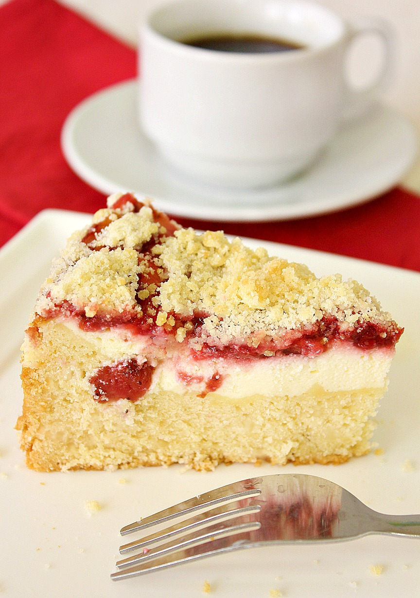 Food Wanderings : Strawberry Cream Cheese Coffee Cake