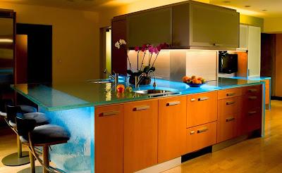 Cocina y muebles c mo dise ar cocinas modernas cocina - Encimeras de cocina de cristal ...