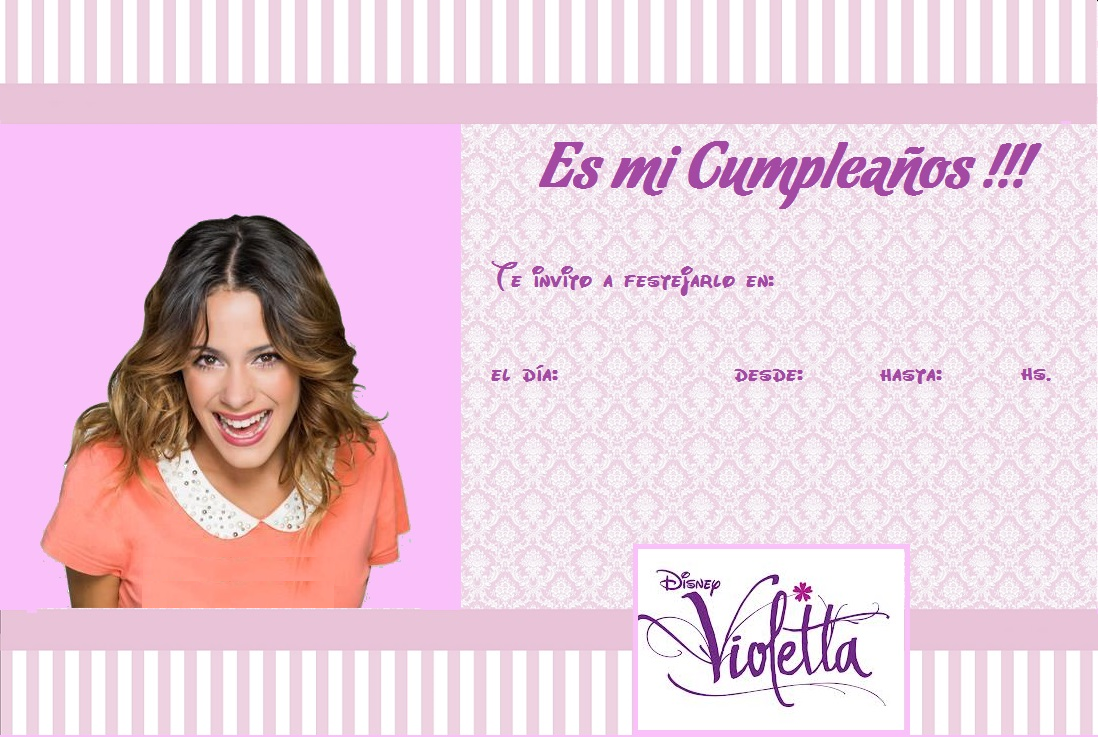 Violetta: Tarjetas de Cumpleaños de Violetta