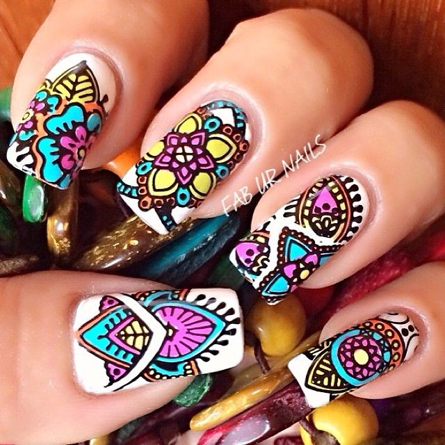 Try These Color Full Nails Art...