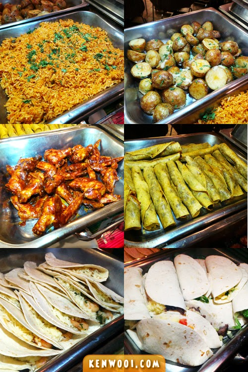 mexican buffet starters