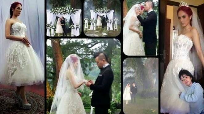 Foto Pernikahan Mulan Jamela dan Ahmad Dhani 1