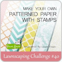 Lawnscaping Challenge #40: Make Your Own Patterned Paper With Stamps