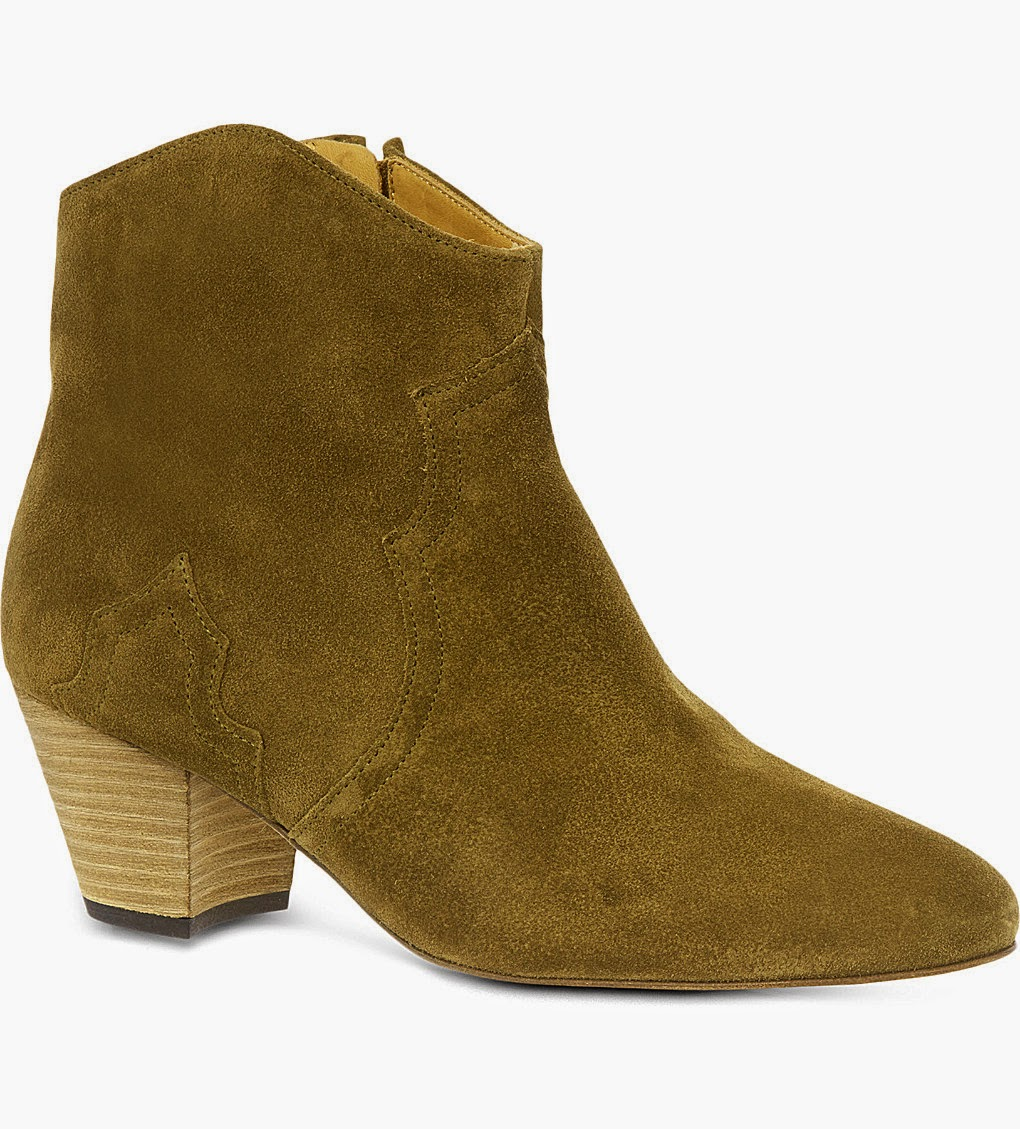 isabel marant green suede boots,