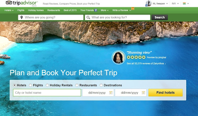 TripAdvisor Screen