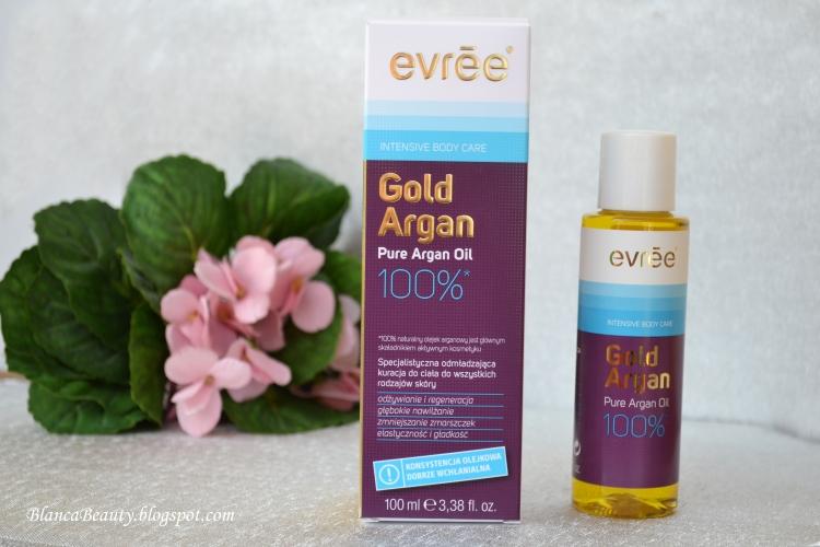 evree, olejek do ciała, olej arganowy, gold argan, naturalny olej, do ciała,