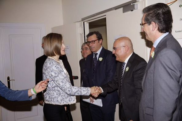 Queen Letizia Attends The Meeting Of The Association Against Cancer