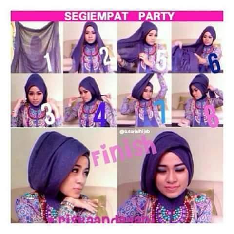 Tutorial Jilbab Modern Untuk Acara Pesta