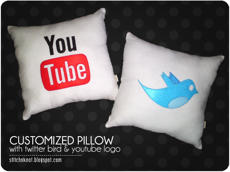 Order: Youtube and twitter bird pillow