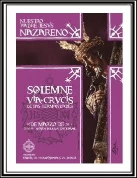 Cartel Oficial del Vía-Crucis de las Hermandades 2014