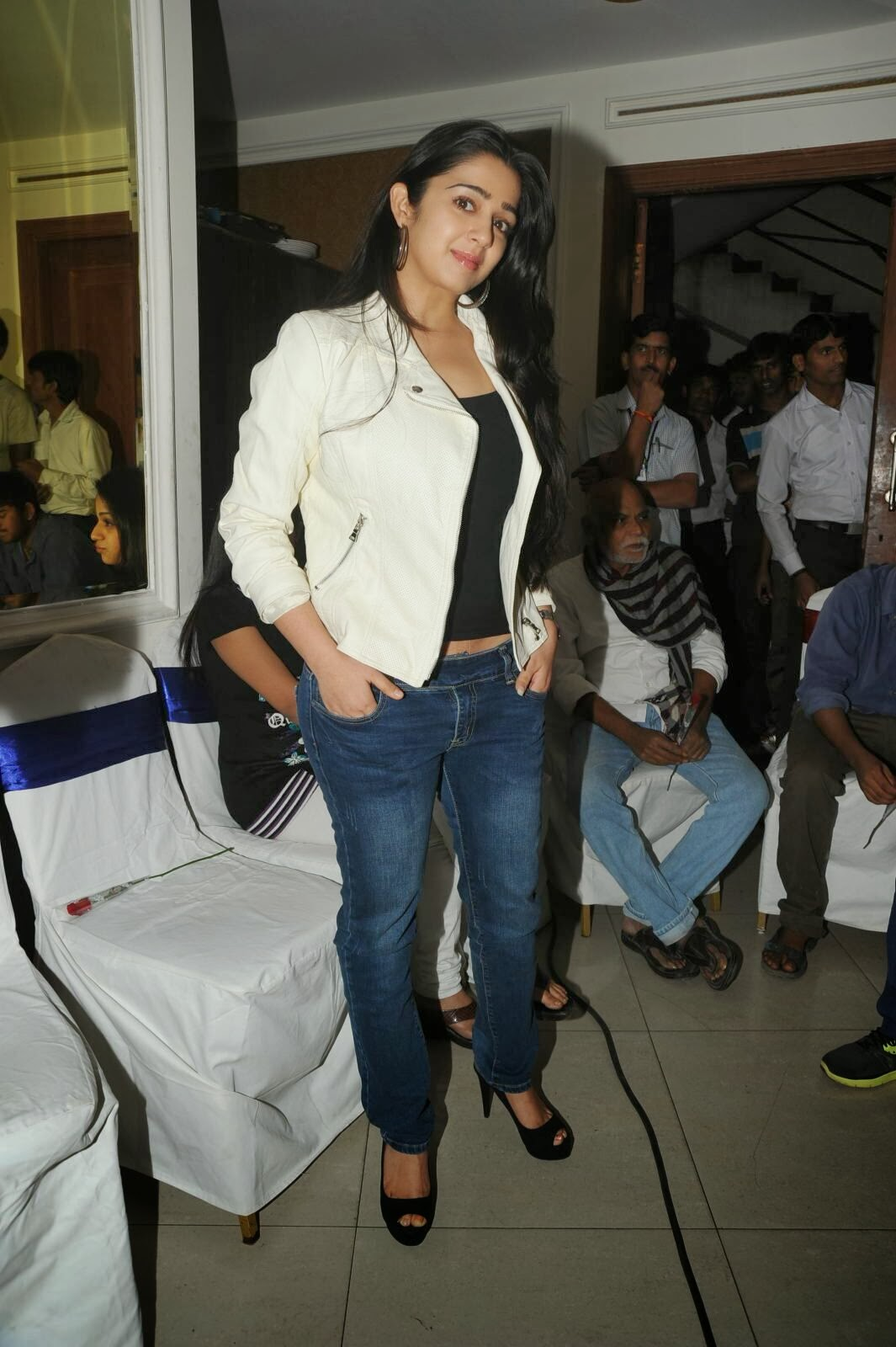 Actress Charmi Kaur Pictures in Jeans at One by Two Movie Celetes 20 Years Event  0163.jpg