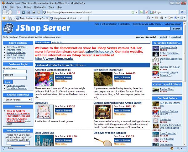 JShop Server