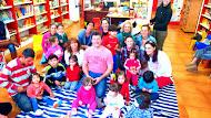 JAVIER CABOBLANCO, CON NUESTROS PEQUEÑOS EN LA BIBLIOTECA, 29/04/2015
