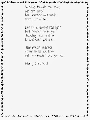 Handprint Reindeer, Ornaments, and Poem {free printable}